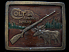 HK25142 VINTAGE  1976 ***COLT FIREARMS*** BULL MOOSE RIFLE GUN BUCKLE