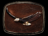 VINTAGE 1979 **FLYING BALD EAGLE** SUEDE/BRASS BUCKLE