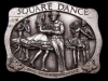 HL19139 VINTAGE 1985 COMMEMORATIVE ***SQUARE DANCERS*** PEWTER BUCKLE