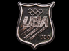 HL23112 VINTAGE 1980 ***USA OLYMPICS*** BADGE-SHAPED PEWTER BUCKLE
