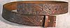 1970s VINTAGE BROWN COWBOY **FLORAL TOOLED** BELT - 30