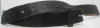 1970s VINTAGE *INDIE* SMOOTH BLACK LEATHER BELT - 52