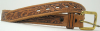 1970's VINTAGE WESTERN  FLORAL TOOLED BROWN BELT - 26