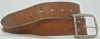1970s VINTAGE *INDIE* STITCHED BROWN LEATHER BELT - 27