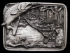 GREAT 1983 **FLY FISHING** SPECKLED TROUT PEWTER BUCKLE