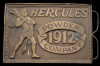 COOL VINTAGE 1977 **HERCULES GUN POWDER** BRASS BUCKLE