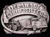 *NOS VINTAGE BUCKLE* GREAT 1985 DELAWARE FIRE FIGHTERS