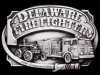 **NOS VINTAGE BUCKLE** GREAT 1985 DELAWARE FIRE FIGHTER