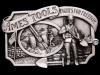 *NOS VINTAGE BUCKLE* 1984 AMES TOOLS FIGHTS FOR FREEDOM