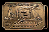 IA12113 VINTAGE 1974 BUCKLE **CLERMONT** NORTH RIVER STEAMBOAT