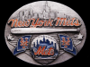 GREAT VINTAGE 1990 NEW YORK METS BASEBALL PEWTER BUCKLE