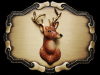 VERY COOL VINTAGE 1970s ***BIG BUCK DEER*** BELT BUCKLE