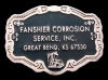 GREAT 70s OILFIELD BUCKLE *FANSHIER CORROSION SERVICE*