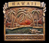 GREAT 1977 VINTAGE BUCKLE **HAWAII** PALM TREES BRASS