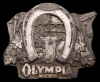GREAT 1978 *OLYMPIA BEER* BOTTLE OPENER PEWTER BUCKLE
