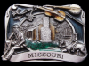 IG13117 *NOS* VERY COOL VINTAGE 1984 ***MISSOURI*** SOUVENIR PEWTER BUCKLE