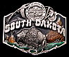 AWESOME VINTAGE 1987 ***SOUTH DAKOTA*** BUFFALO BUCKLE