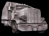 HL29147 VINTAGE 1977 CUT-OUT ***18-WHEELER SEMI-TRUCK*** PEWTER BUCKLE