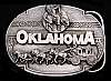 HI05123 *NOS* VINTAGE 1990 ***OKLAHOMA*** INDIAN STAGE COACH BUCKLE