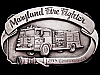*NOS VINTAGE BUCKLE* AWESOME 1985 MARYLAND FIRE FIGHTER