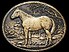 JA17106 GREAT VINTAGE 1970s **QUARTERHORSE STANDING IN FIELD** BELT BUCKLE