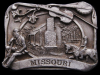 GREAT VINTAGE 1984 MISSOURI SOUVENIR PEWTER BELT BUCKLE