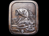 GREAT VINTAGE 1976 HOOKED LARGE MOUTH BASS BELT BUCKLE