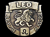 AWESOME VINTAGE 1976 ***LEO*** ASTROLOGICAL SIGN BUCKLE