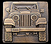 COOL 1978 VINTAGE *1970s JEEP CJ-5* 4x4 OFF ROAD BUCKLE