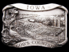 AWESOME VINTAGE 1983 IOWA - GOD'S COUNTRY PEWTER BUCKLE