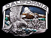 AMAZING VINTAGE 1984 CALIFORNIA SOUVENIR PEWTER BUCKLE