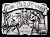II06123 *NOS* VINTAGE 1986 ***TEXAS*** COMMEMORATIVE 150 YRS 1836-1986 BUCKLE