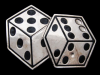 SWEET VINTAGE 1990s CUT-OUT ROLLING DICE SILVER BUCKLE