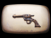 IJ01128 VINTAGE 1970s CHAMBERS ***SIX-SHOOTER*** WESTERN BELT BUCKLE