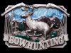 COOL VINTAGE 1983 THE SPORT OF BOWHUNTING PEWTER BUCKLE