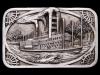 COOL VINTAGE 1983 RIVERBOAT COMMEMORATIVE PEWTER BUCKLE