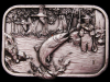 COOL VINTAGE 1982 FISHERMAN HOOKING A TROUT BELT BUCKLE