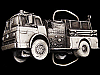 COOL VINTAGE 1979 CUT-OUT FIRE TRUCK PEWTER BELT BUCKLE