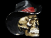 AWESOME VINTAGE 1981 CUT-OUT SKULL W/ COWBOY HAT BUCKLE