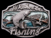 JB25140 AWESOME VINTAGE 1989 **I'D RATHER BE FISHING** PEWTER BELT BUCKLE