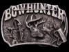 VERY COOL VINTAGE 1989 **BOWHUNTER** PEWTER BELT BUCKLE