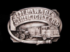 1985 DELAWARE FIRE FIGHTERS COMMEMORATIVE PEWTER BUCKLE