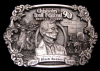JC06129 VINTAGE 1990 **CHISHOLM TRAIL FESTIVAL** NEWTON KANSAS PEWTER BUCKLE