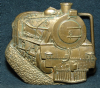 HC23103 VINTAGE 1978 ***STEAM LOCOMOTIVE*** SOLID BRASS BUCKLE