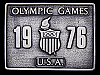 AWESOME VINTAGE 1976 OLYMPIC GAMES U.S.A PEWTER BUCKLE