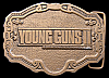 COOL VINTAGE 1990 BUCKLE **YOUNG GUNS II** MOVIE BRASS