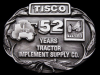 IE03153 VINTAGE 1987 ****TISCO 52 YEARS**** PEWTER BELT BUCKLE