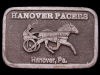 JE27138 VINTAGE 1970s **HANOVER PACERS** TROTTING HORSES HANOVER, PA. BUCKLE
