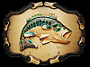 SWEET VINTAGE 1981 JUMPING LARGE MOUTH BASS BELT BUCKLE