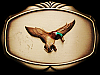 VERY COOL VINTAGE 1978 FLYING MALLARD DUCK BELT BUCKLE